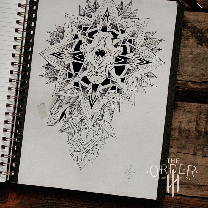 Skull Mandala Sketch