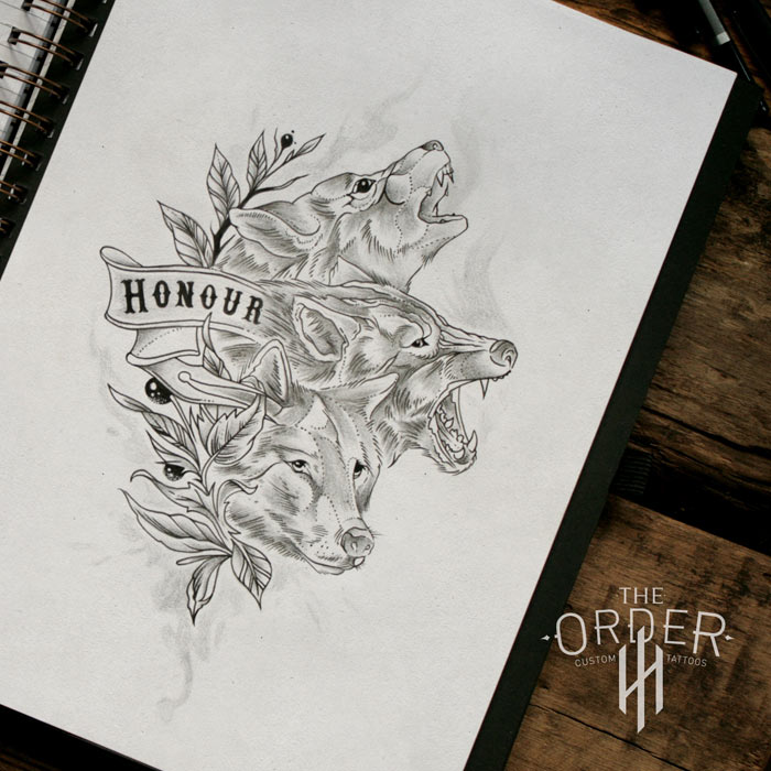Honour Wolves Sketch