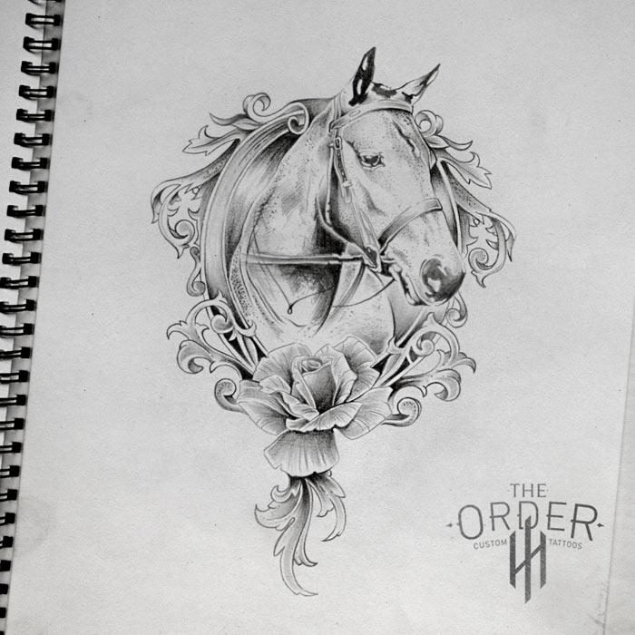 Horse Rose Sketch