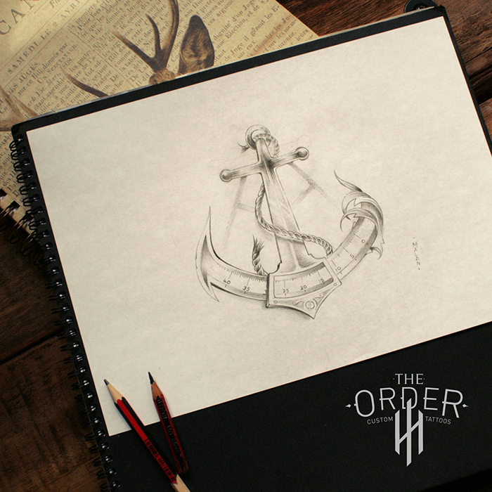 Anchor And Sextant Sketch The Order