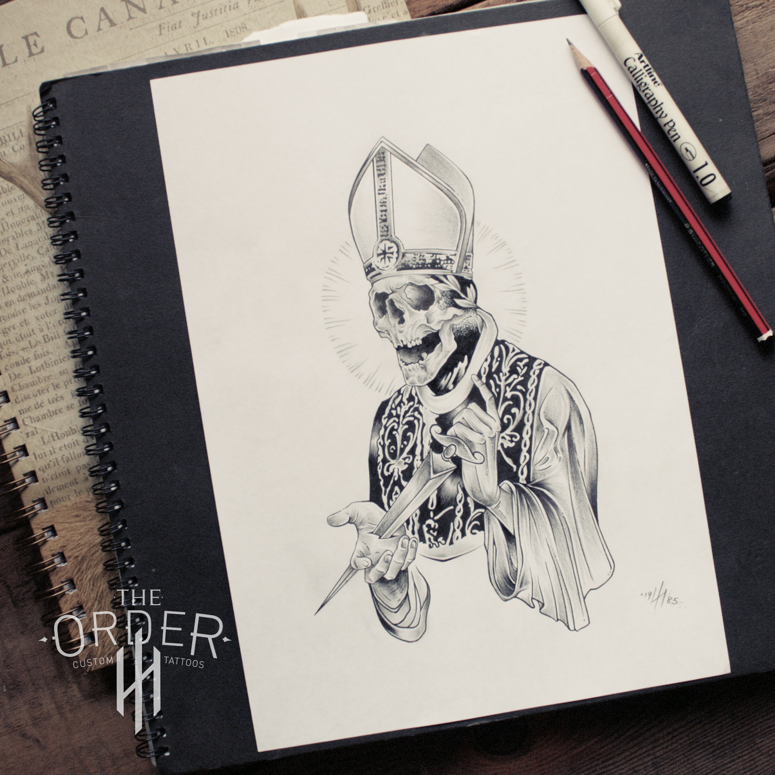 Evil Dead Pope Sketch The Order