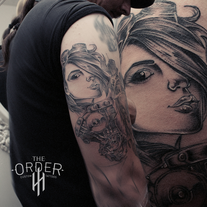 Girl And Shovelhead Engen Tattoo – The Order