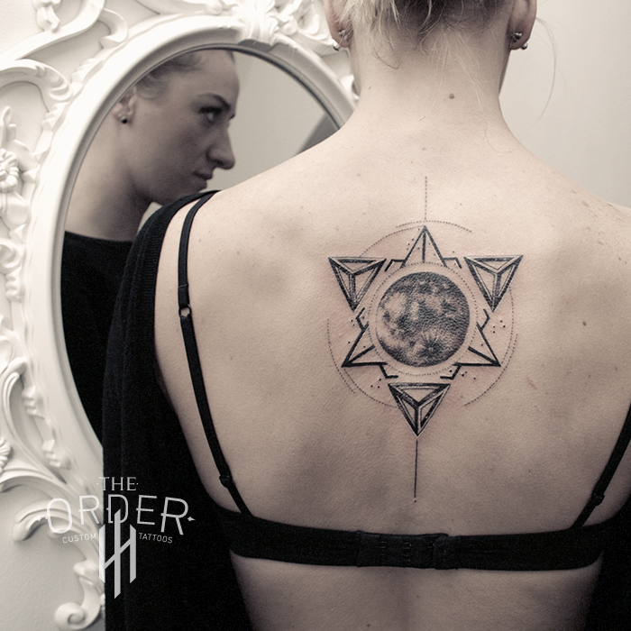 Sacred Geometry Moon Tattoo 2 The Order