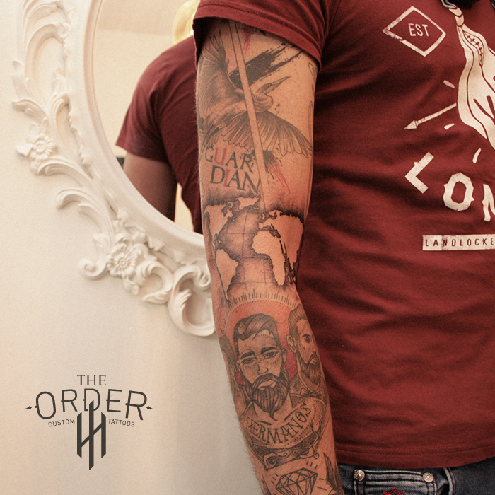 Men Sleeve Tattoo The Order