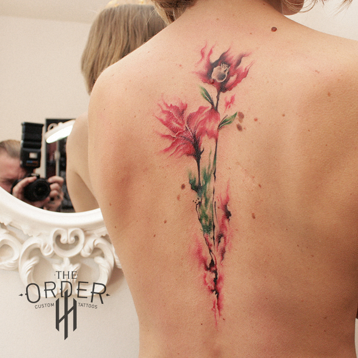 Water Color Flower Tattoo The Order