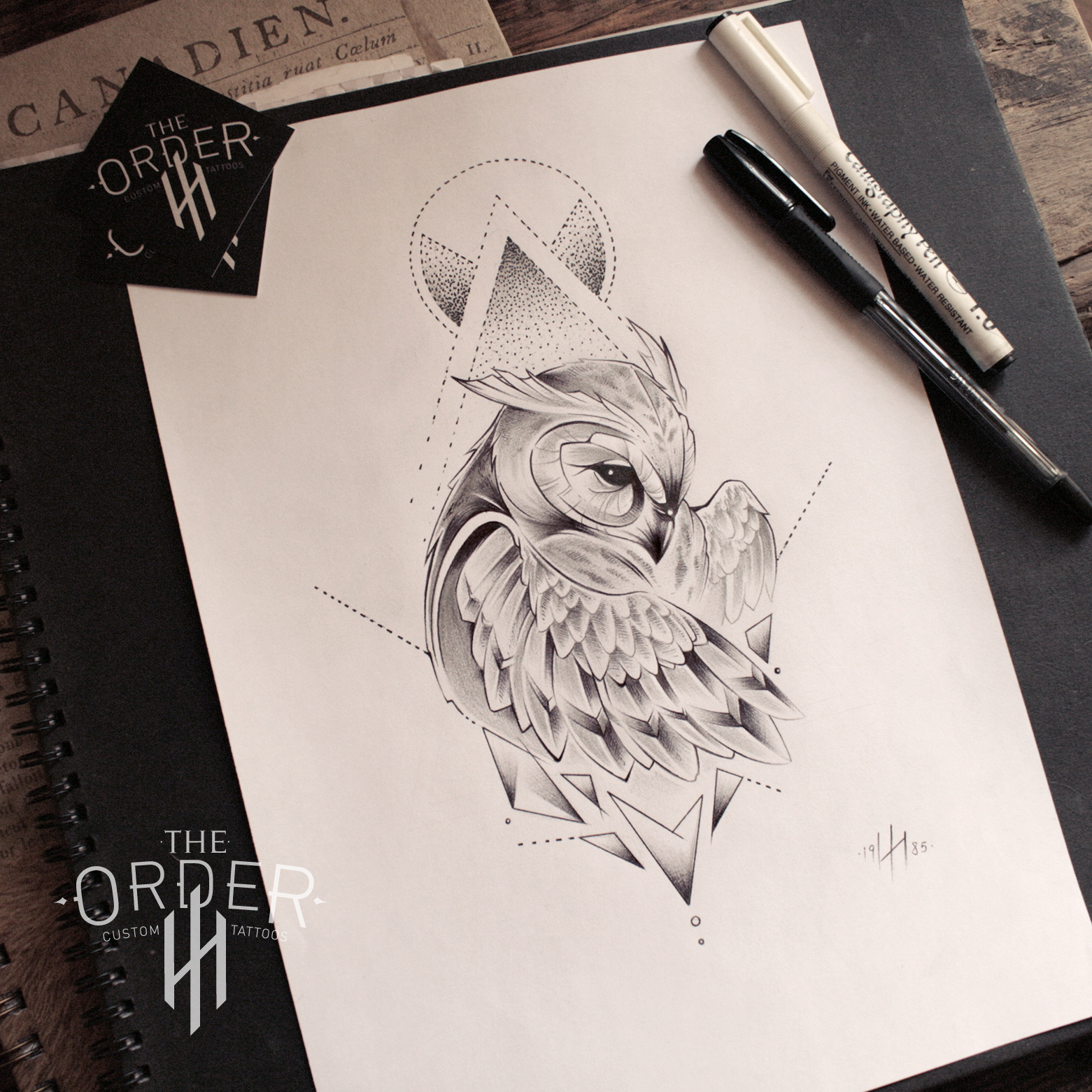Neo Traditional Owl Sketch – The Order