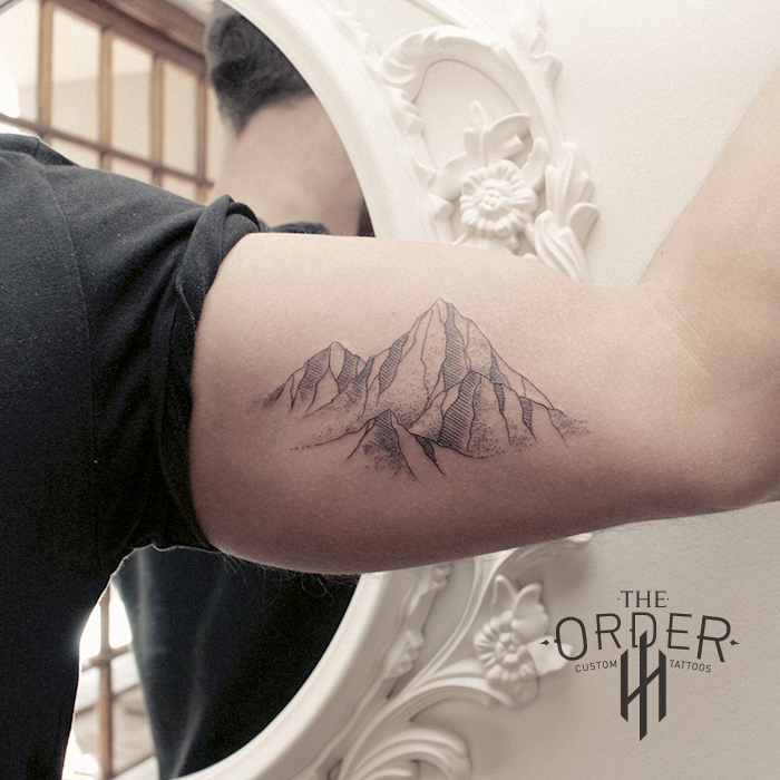 Line Work Mountain Tattoo – The Order