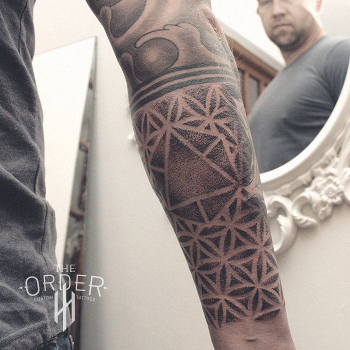 Sacred Geometry Pointillism Tattoo – The Order