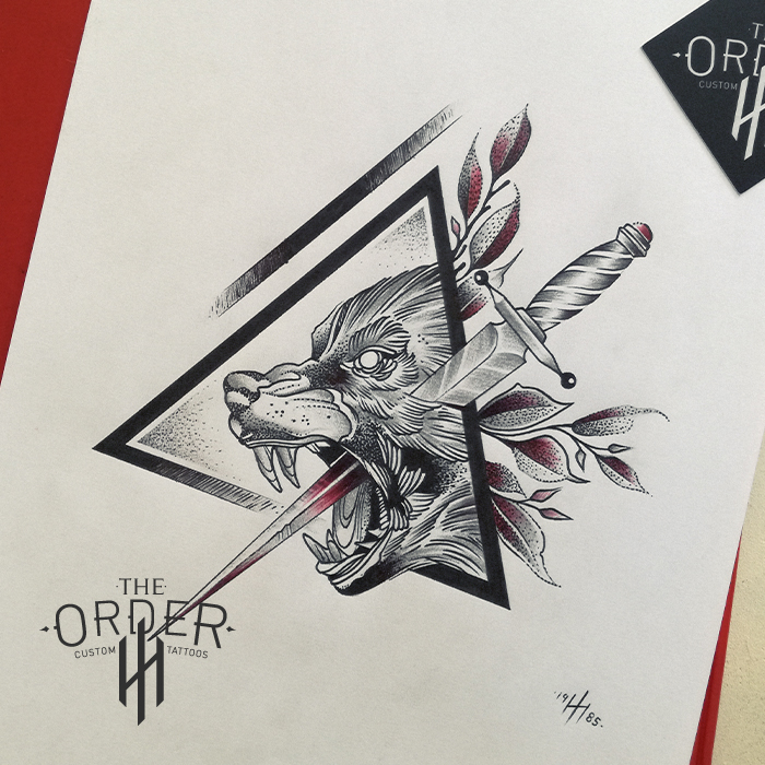 Wolf With Dagger Sketch – The ORDER