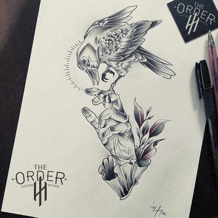 Crow On Hand Sketch – The ORDER