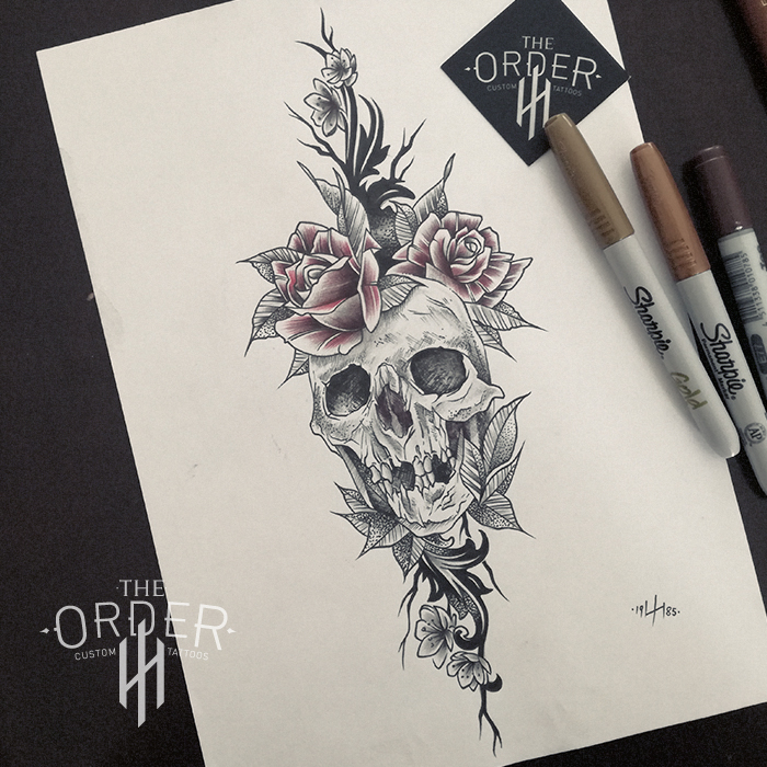 Skull And Roses Sketch – The ORDER