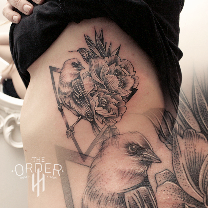 Bird And Flower Geometry Tattoo – The ORDER