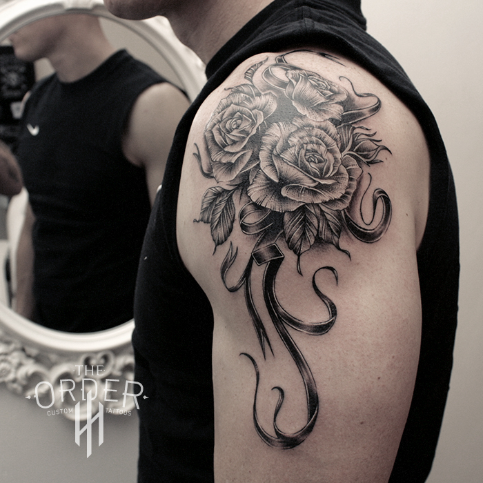 Black Work Rose Tattoo – The ORDER