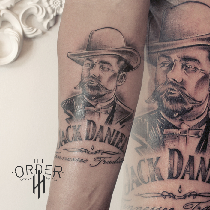 Jack Daniels Sketch Portrait Tattoo – The ORDER