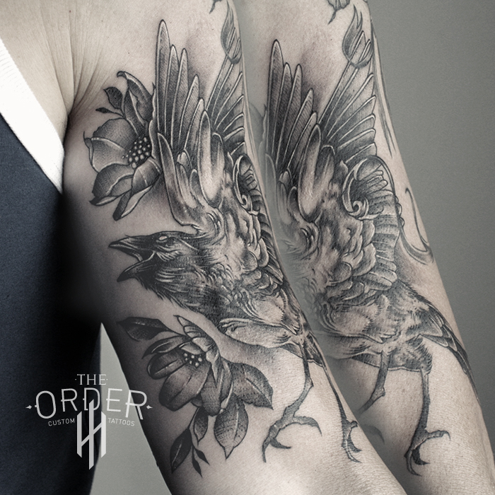 Black Work Crow Tattoo – The ORDER
