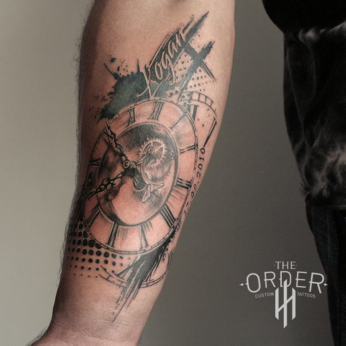 Trash Polka Clock Tattoo – The ORDER