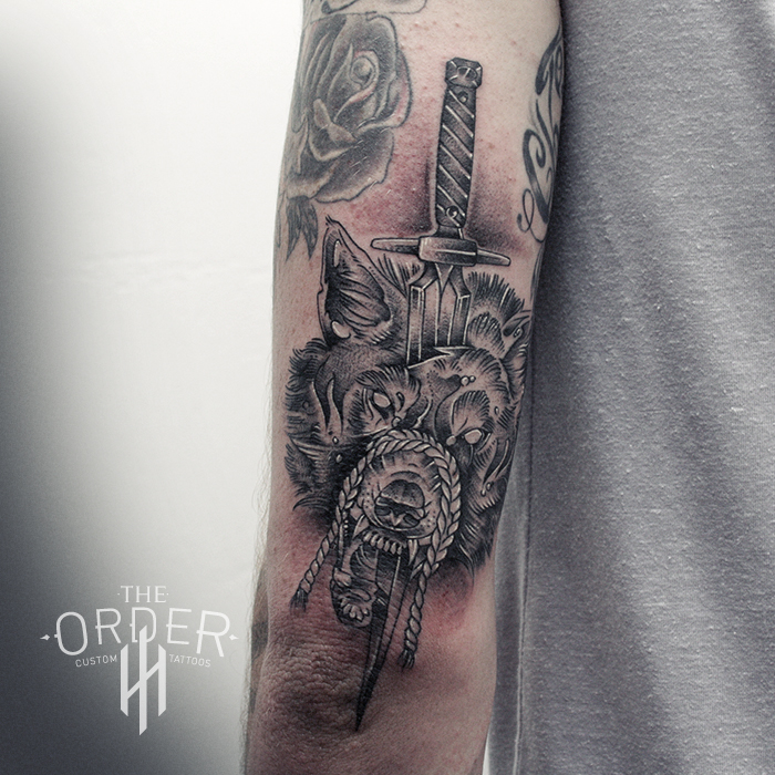 Wolf And Dagger Tattoo – The ORDER