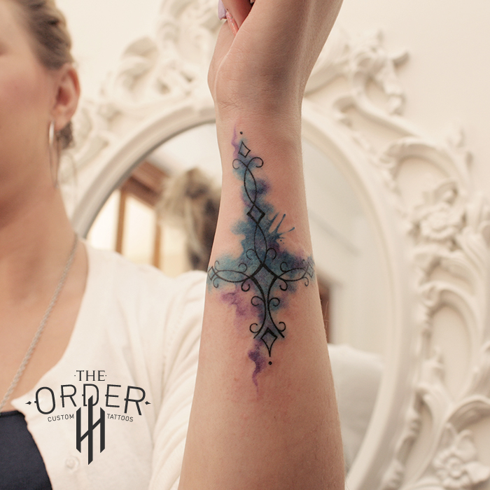 Water Color Cross Tattoo – The ORDER