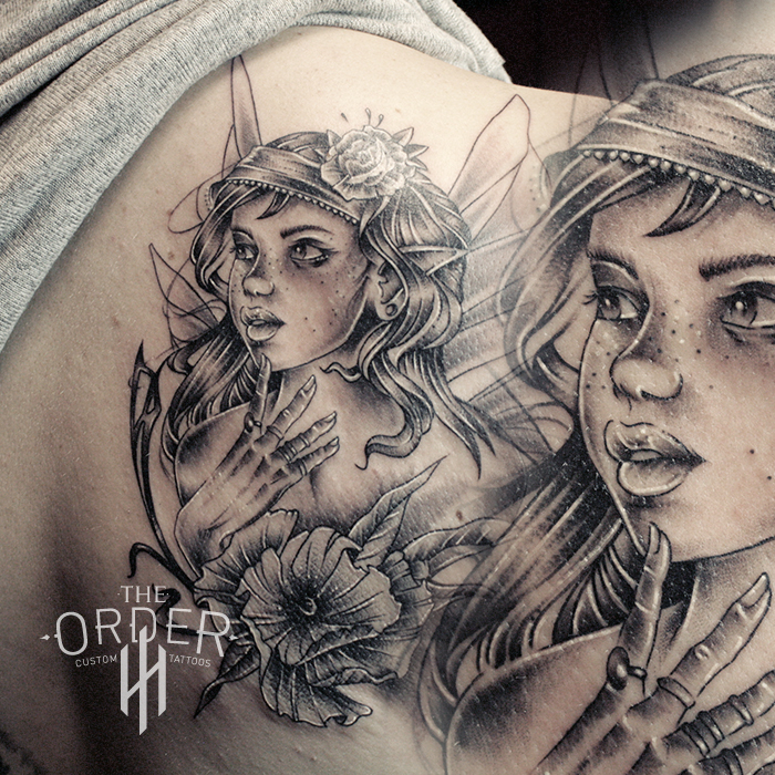 Fairy Black And Gray Tattoo – The Order