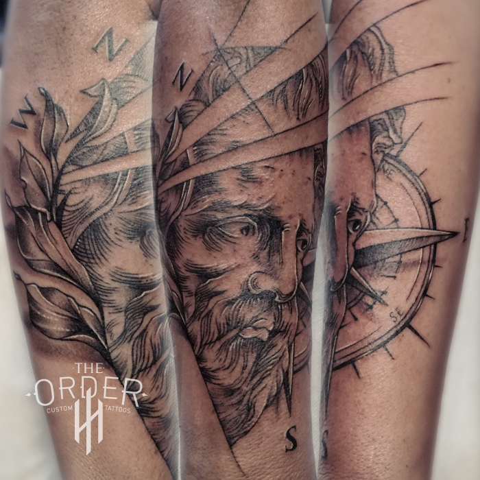 Face And Compass Tattoo – The Order